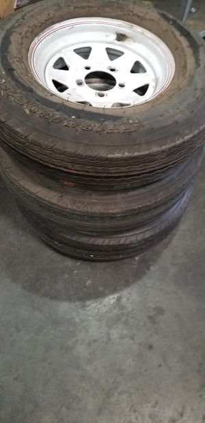 Trailer tires and rims for Sale in Victorville, CA