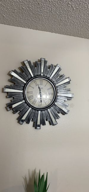 mirrored wall clock for Sale in Lakeland, FL