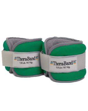 TheraBand Ankle/Wrist Weights, Green 1.5 lb. Each, Set of 2, 3 Pounds for Sale in Phoenix, AZ