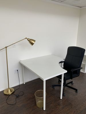 Desk, Chair, light, (office set up) for Sale in Huntington Beach, CA