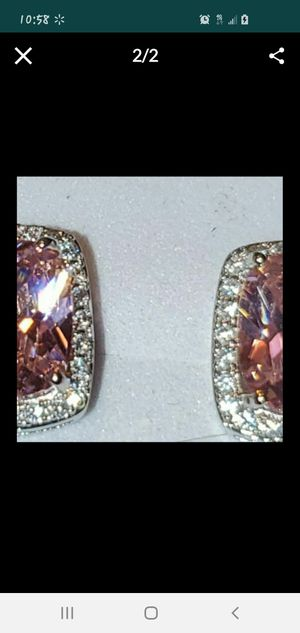 Exquisite Pink Zircon Earrings for Sale in Vancouver, WA