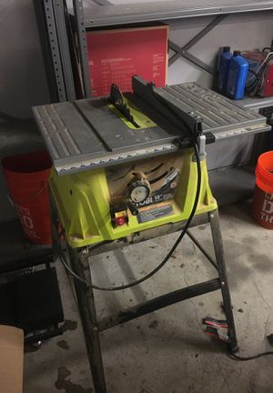 "Ryobi 10"" table saw for Sale in Tacoma, WA"