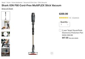 Shark Ion F80 Cord Free Stick Vacuum - Gold for Sale in Gilroy, CA