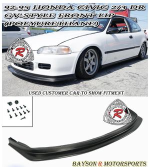 GV STYLE FRONT LIP FOR 1992-1995 HONDA CIVIC 2DR / 3DR FLIP-PU-C9295-3DR-GV for Sale in Fresno, CA