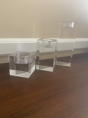 Crate & Barrel square glass candle tea light holders for Sale in Long Beach, CA
