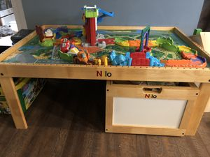 Nilo table/train table with large storage bin for Sale in Algonquin, IL