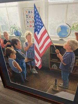"Robert Duncan Hand Signed and Numbered Limited Edition Canvas Giclee:""The Pledge"" for Sale in Columbia, MD"