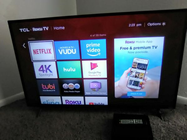 43 inch TCL Roku Smart TV with mini DVD Player