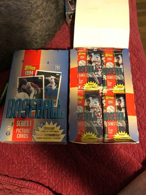 1994 TOPPS SERIES 1 BASEBALL CARDS FACTORY SEALED BOX 36 WAX PACKS 75 cents per pack $20 per box for Sale in Beltsville, MD