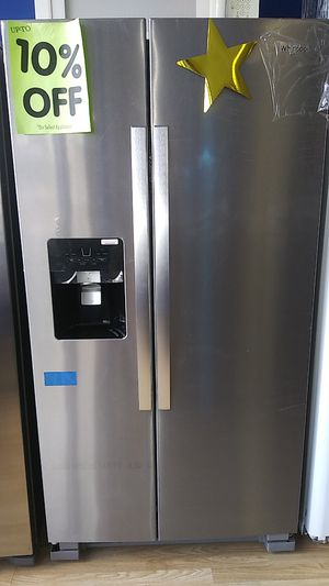 Whirlpool Side by Side Refrigerator ⭐⭐New year new appliance in payments with 39 down no credit needed delivery available🚚 for Sale in Phillips Ranch, CA