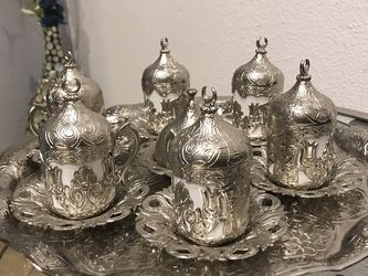 Elegant Turkish coffee set vintage for Sale in El Cajon,  CA
