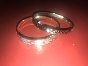 Black & grey Coach bangle bracelets (both for $50)- firm on price!! for Sale in Santee, CA