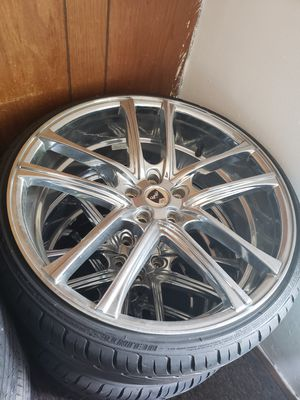 New allow rims and tires for Sale in Appleton, WI
