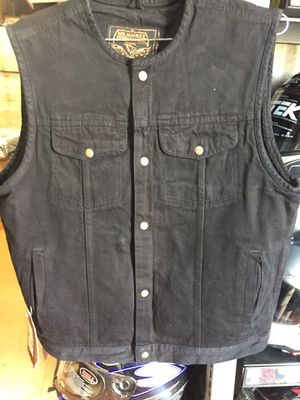 New denim black motorcycle vest $85 for Sale in Whittier, CA
