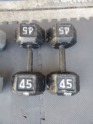 Pair Of 45s Dumbells Free Weights for Sale in Steilacoom, WA