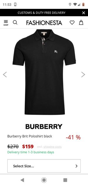 Burberry polo shirt for Sale in Port Richey, FL