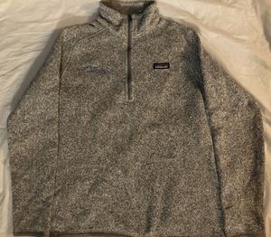 Womens Patagonia Better Sweater Heather Birch Gray Fleece Pullover Large Promo for Sale in Santa Clarita, CA