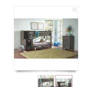 Twin On Twin Bunk Bed for Sale in St. Charles, IL