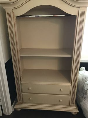 Solid Wood Dresser Armoire missing Cabinet Doors for Sale in Temecula, CA