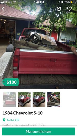 Chevy S10 Truck 1984 for Sale in Aloha, OR