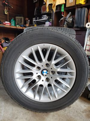 Bmw e39 wheels and tires. 225/60/16. 80% left on the tires. Toyo all season . Even wear on all tires. $475.00 obo. for Sale in Portland, OR