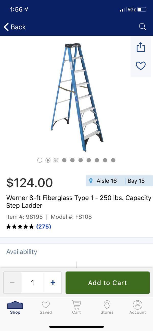 Werner ladder 8'