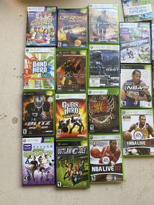 Games, Xbox 360, Xbox controllers, guitar hero guitar, wii accessories for Sale in Scottsdale, AZ