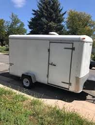 12 ft enclosed cargo trailer no title as is for Sale in Houston, TX