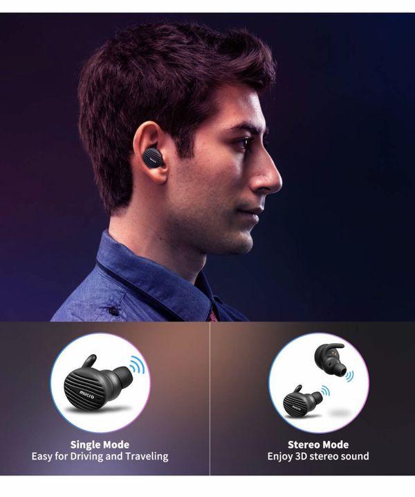 True Wireless Bluetooth Earbuds