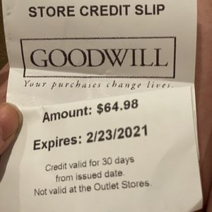 Goodwill Store Credit Good Until 2/23/21 for Sale in Portland, OR