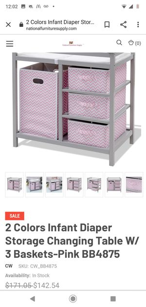 New Infant Changing Table with Storage for Sale in Los Angeles, CA