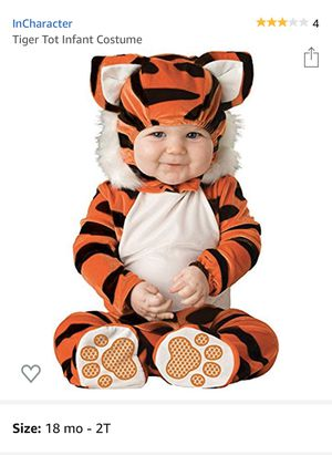 TIGER TOT INFANT COSTUME, SIZE 18MO.-2T, LIKE NEW for Sale in Union, KY