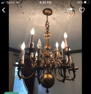 Antique golden tone chandelier for Sale in Davie, FL