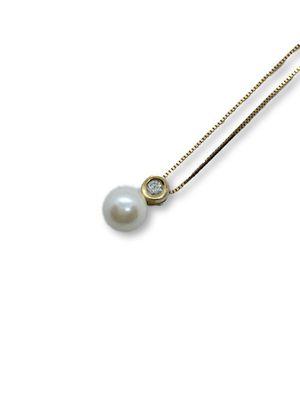 10k/14k Pearl / Diamond Necklace for Sale in Alexandria, VA