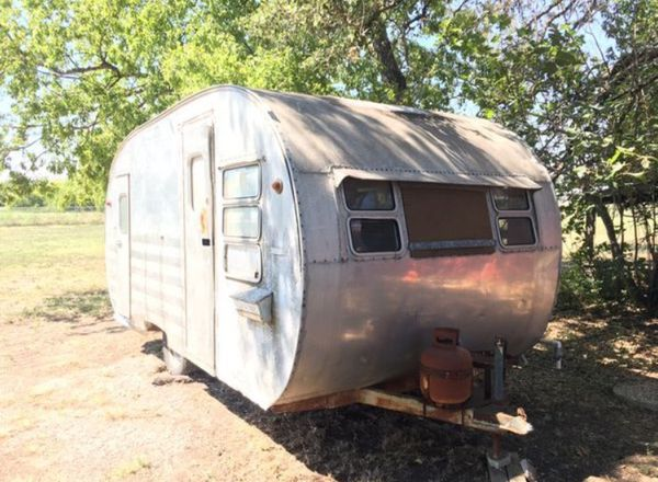 Vintage 1950's Yellowstone Aluminum Travel Trailer for ...