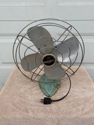VINTAGE ESKIMO 3- SPEED ELECTRIC STEEL BLADE CAGE FAN for Sale in Corona, CA