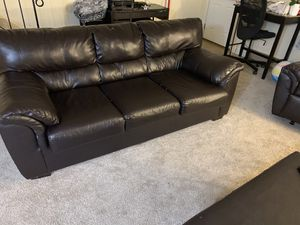 Bonded leather sofa loveseat and recliner set for Sale in Cumberland, RI