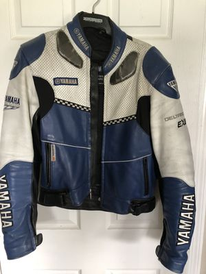 Vintage genuine Yamaha perforated leather motorcycle jacket. Size 40, rare find! for Sale in Boynton Beach, FL