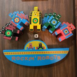 Rockin Robots Wooden Stacking Building Game for Sale in Washington,  DC