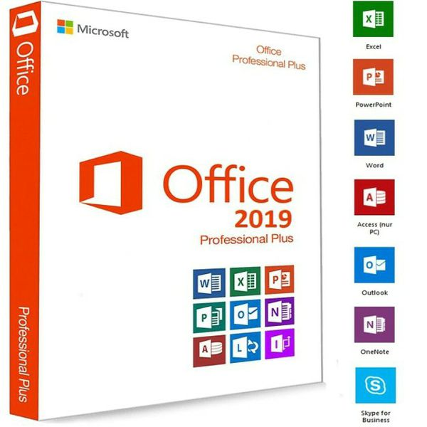MS Office Pro Plus 2019 Included Project & Visio 64bits