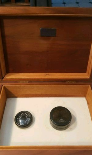 Full sized humidor with a hygrometer and a Credo humidifier for Sale in Robinson Township, PA