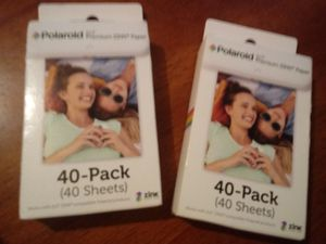 Polaroid 2x3 premium zink sticker film x2 for Sale in Davenport, IA