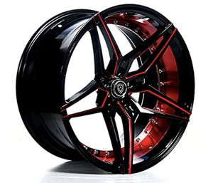 20 inch Black and red Rims for Sale in Dallas, TX