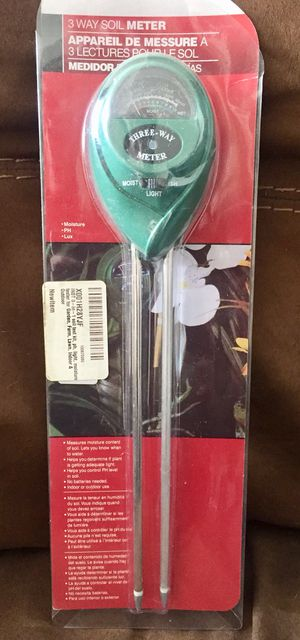 Soil Meter Test Kit 3 Way for Garden, Farm, Lawn, Indoor & Outdoor for Sale in Indianapolis, IN