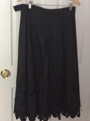 Talbots Antique New Black Silk Skirt Sz 14 Petite for Sale in Belmont, MA