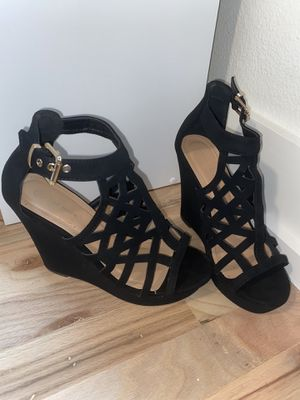 Top Moda Black Wedge Heels for Sale in Austin, TX