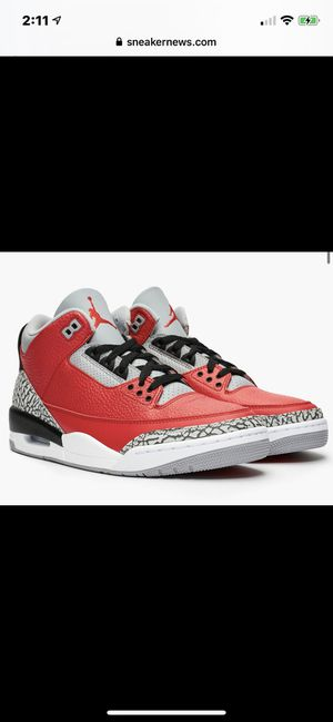 AIR JORDAN RETRO 3 FIRE RED IN HAND SIZE 8.5 for Sale in Westport, MA