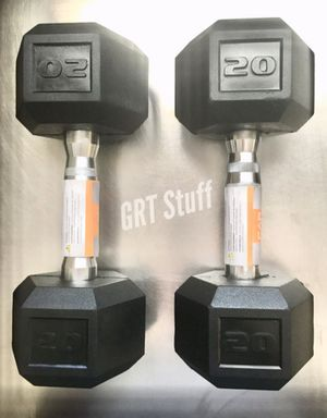 PAIR - 20 LBS Dumbbells Weights (40 LB TOTAL) dumbell NEW for Sale in Modesto, CA