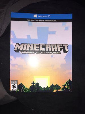 Mindcraft windows 10 edition for Sale in San Bernardino, CA