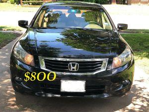 🔥🔥$8OO URGENT I sell my family car 2OO9 Honda Accord Sedan V6 EX-L 𝓹𝓸𝔀𝓮𝓻 𝓢𝓽𝓪𝓻𝓽 Runs and drives very smooth.🍁🍁 for Sale in Newark, NJ